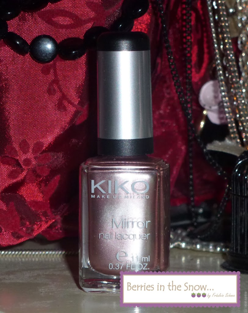 NOTD KIKO Mirror Nail Lacquer Golden Rose - Berries In The Snow