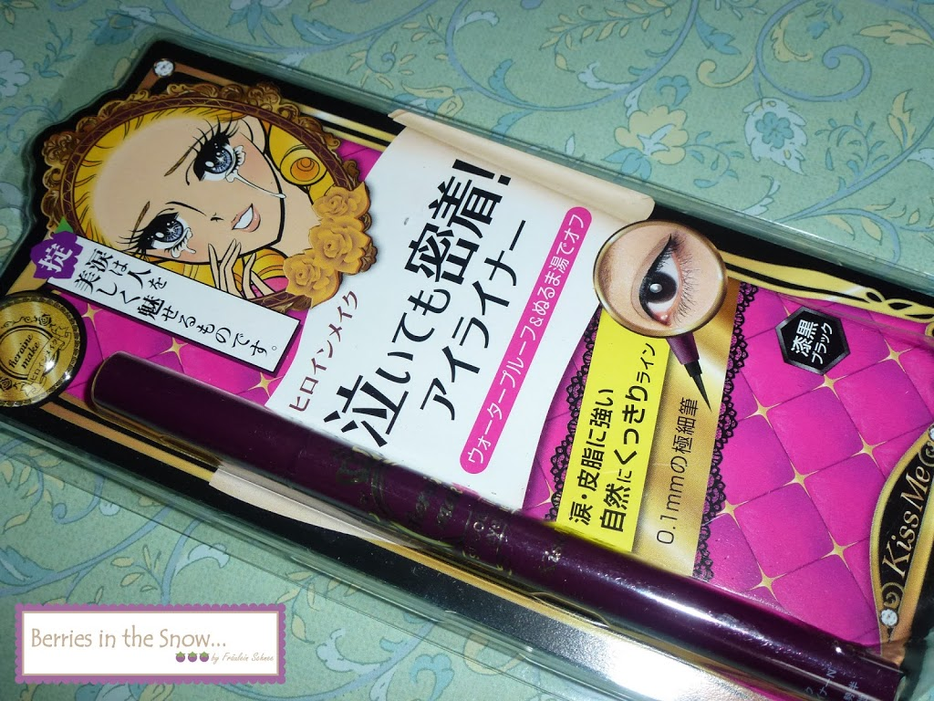 Review: Kiss Me Heroine Make Smooth Liquid Eyeliner Pen in Deep Black - Berries In The Snow