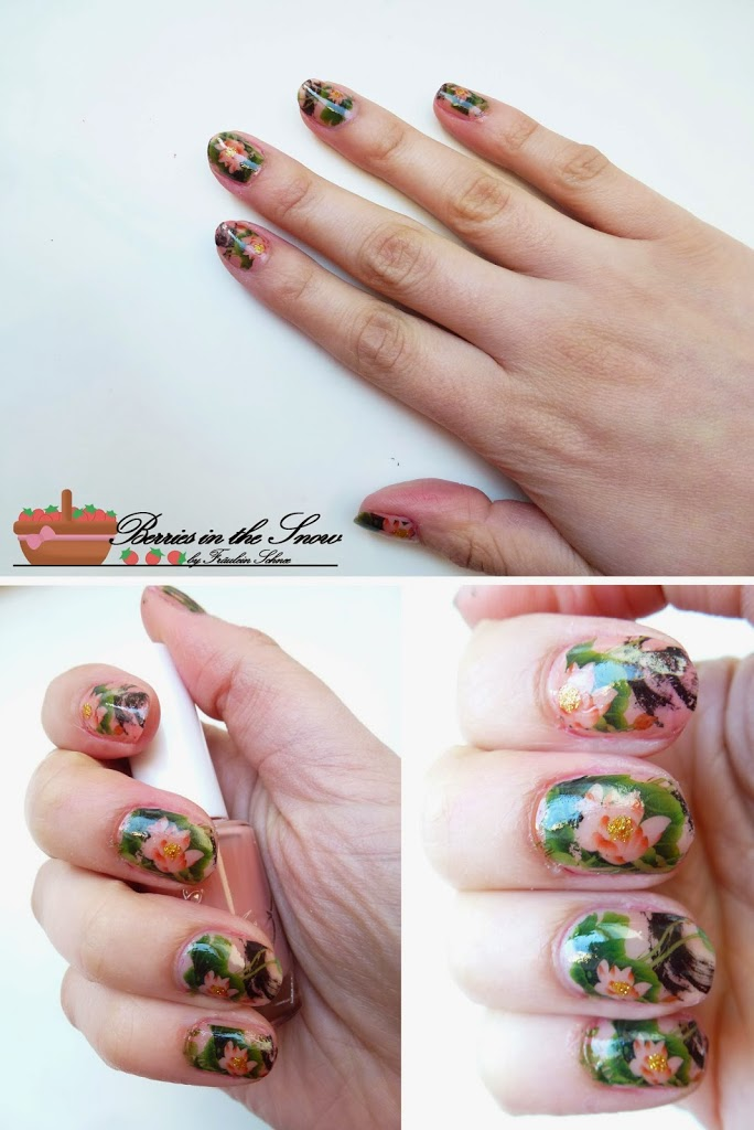Flower Nail Art Water Decals Transfers Sticker