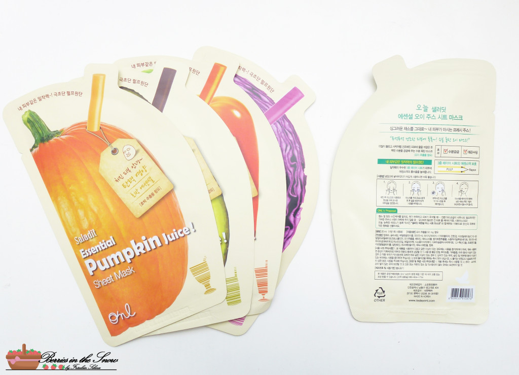 ONL Saladit Essential Juice Sheet Masks