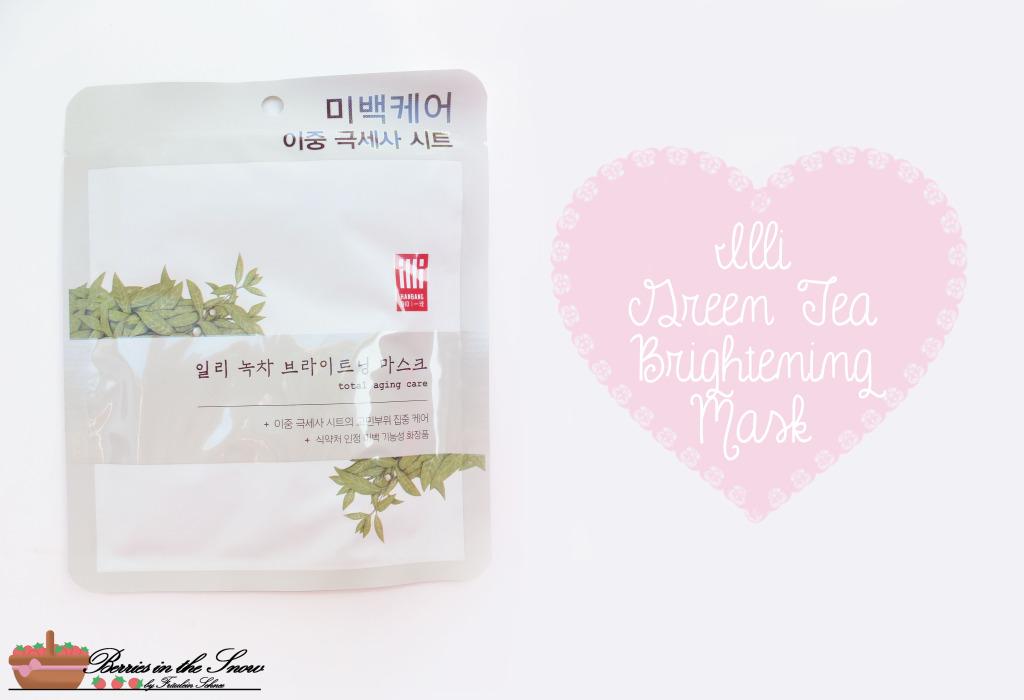 Illi Green Tea Brightening Mask