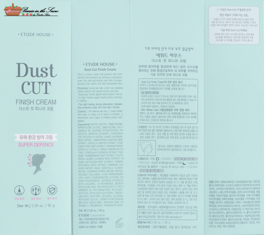 Etude House Dust Cut Finish Cream