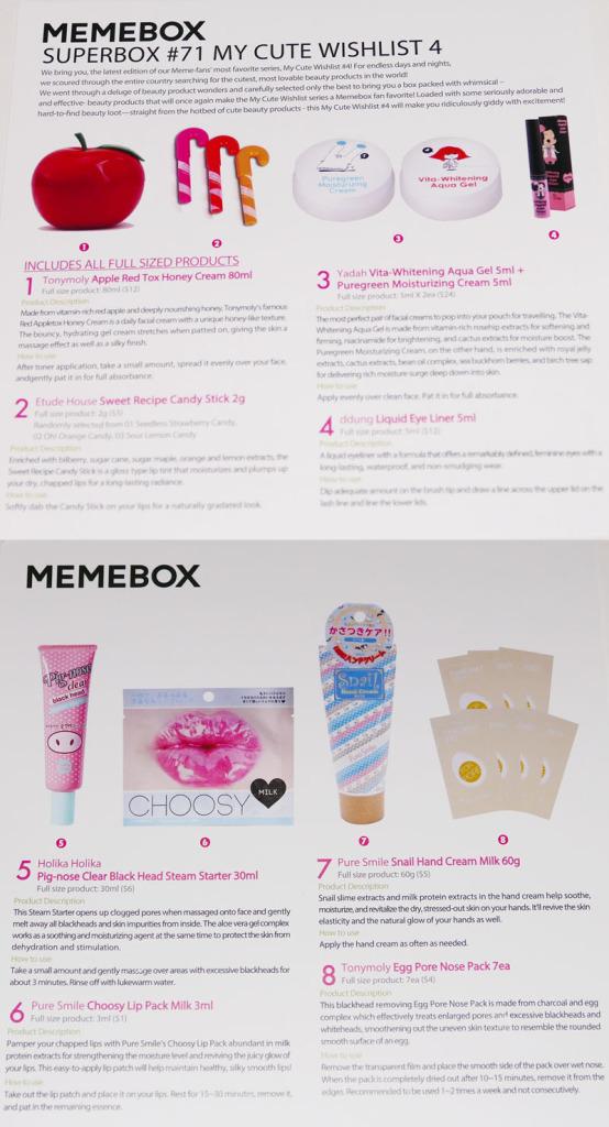 Unboxing: MeMeBox My Cute Wishlist No. 4