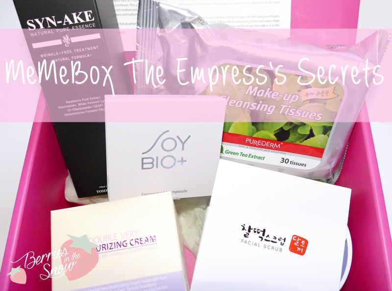 Unboxing: MeMeBox The Empress's Secrets