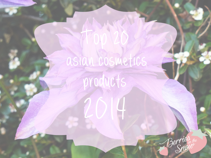 Top 20 asian cosmetics products 2014