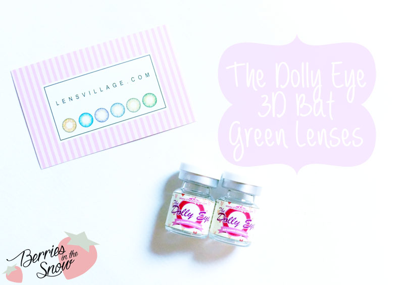 The Dolly Eye 3D Bat Green Lenses