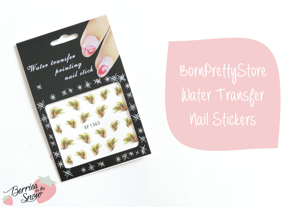 water transfer nail stickers