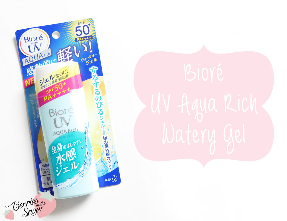 Review: Bioré UV Aqua Rich Watery Gel - Berries In The Snow