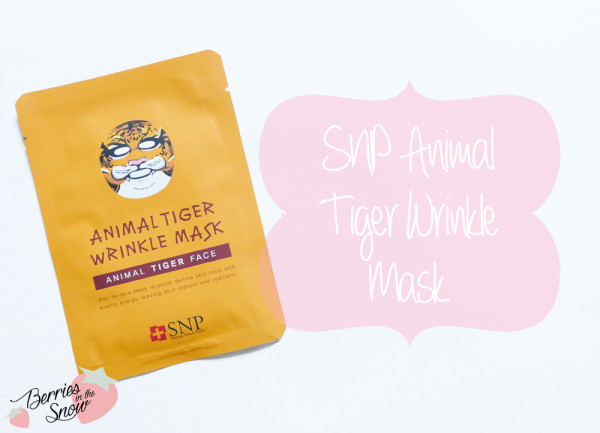 SNP Animal Tiger Wrinkle Mask