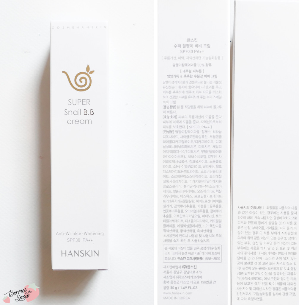 Hanskin Super Snail BB Cream