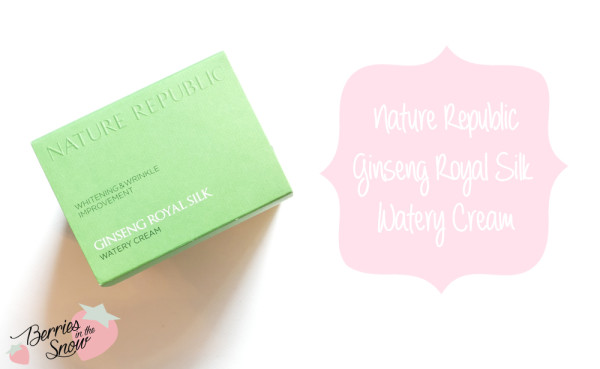 Nature Republic Ginseng Royal Silk Watery Cream