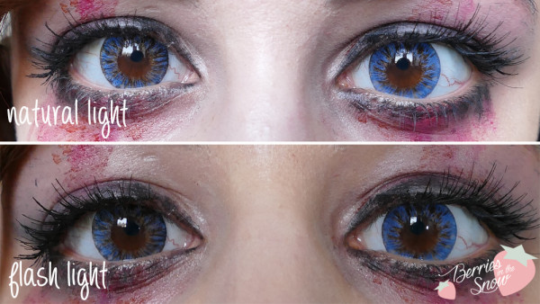 Vassen Naomi Blue Circle Lenses