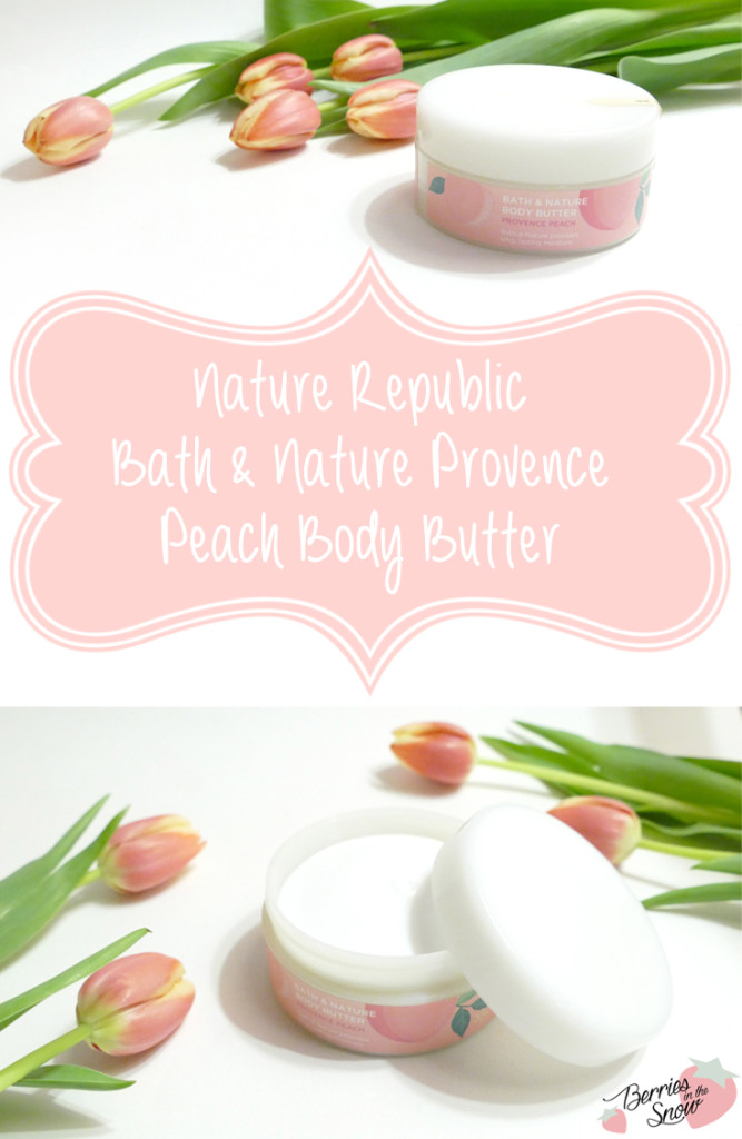 Nature Republic Body & Nature Provence Peach Body Butter