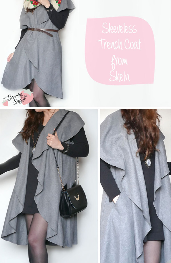 Sleeveless Trench Coat from SheIn