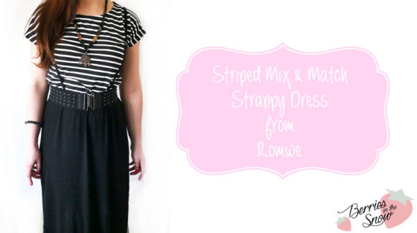 Striped Mix & Match Strappy Dress by Romwe