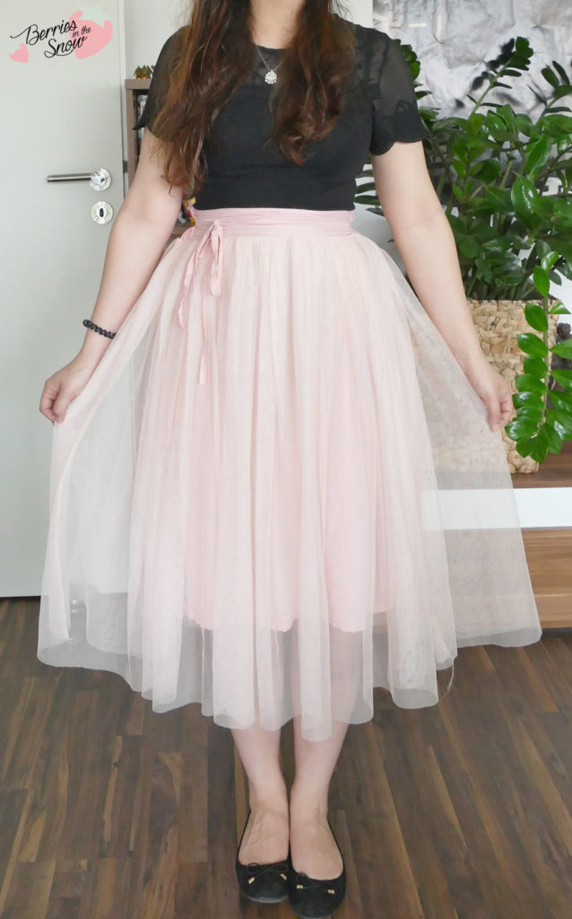 Pink Sheer Mesh Pleated Ballerina Skirt