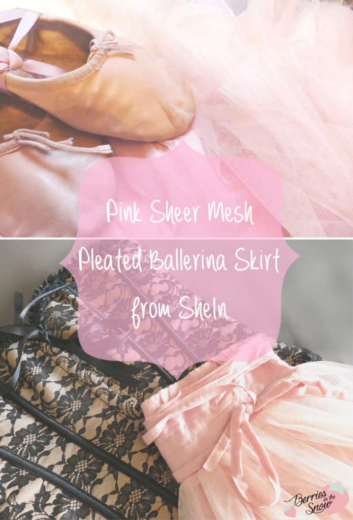 Pink Sheer Mesh Pleated Ballerina Skirt from SheIn