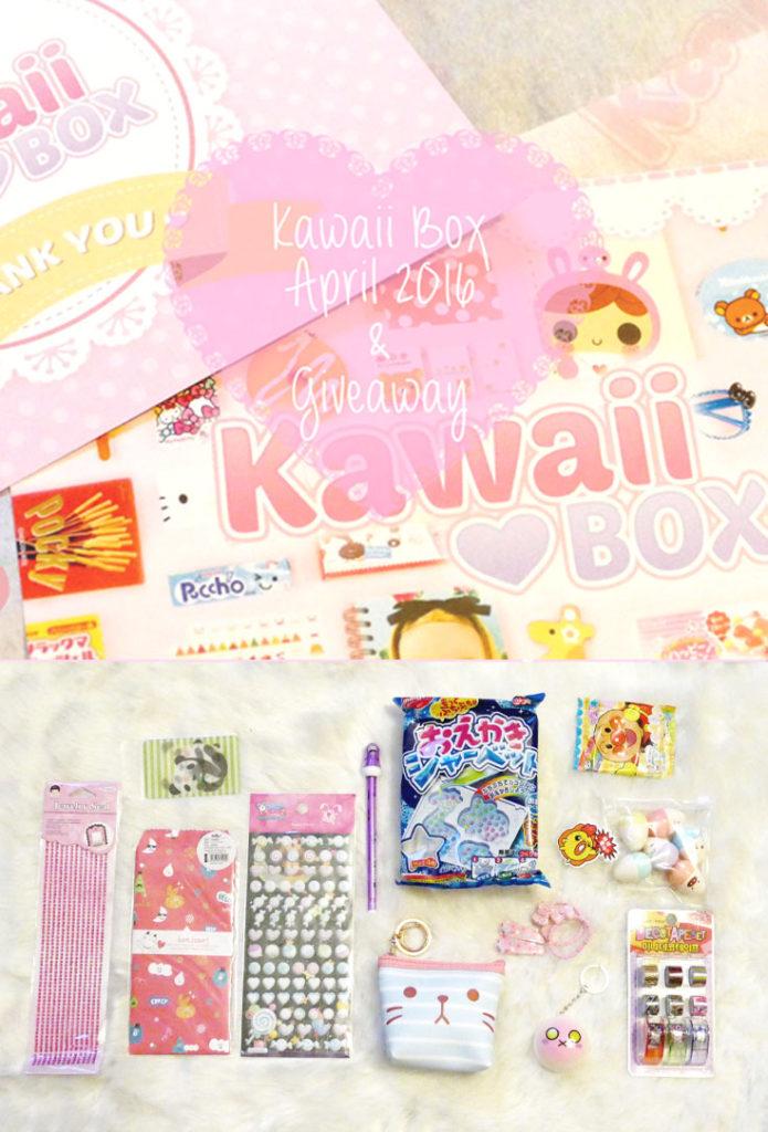 Kawaii Box April 2016 and Giveaway
