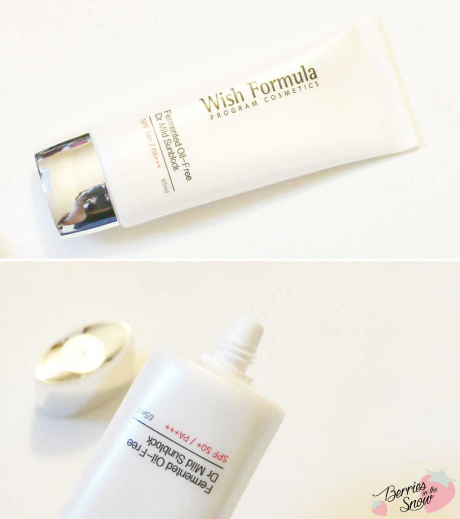 Wish Formula Fermented Oil-Free Dr. Mild Sunblock