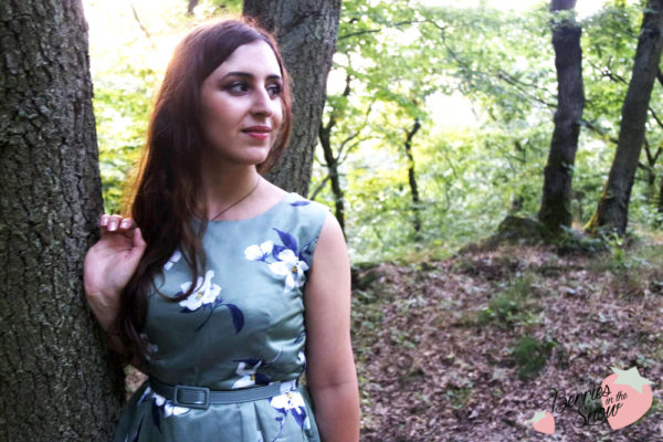 Floral Print Green Dress | Rosegal