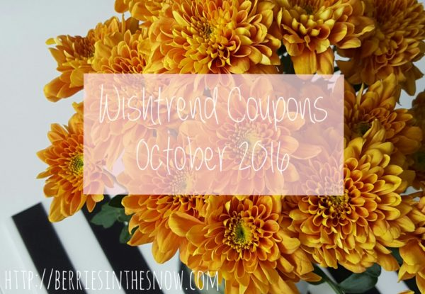 Wishtrend Coupons October 2016