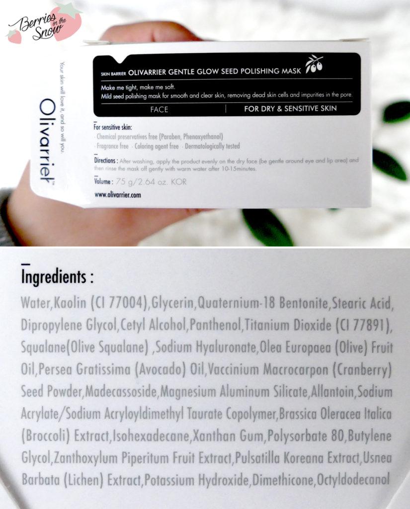 Olivarrier Gentle Glow Seed Polishing Mask