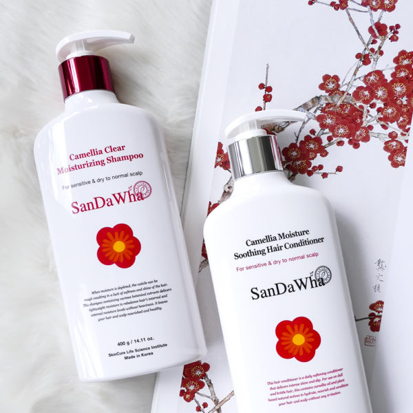 Review Sandawha Camellia Shampoo And Conditioner