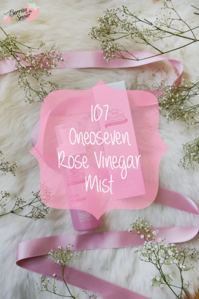 107 Oneoseven Rose Vinegar Water