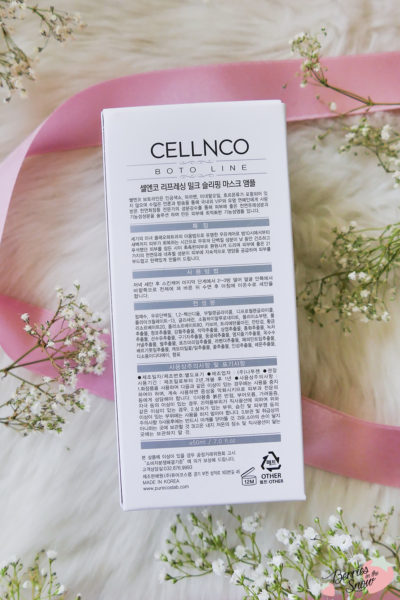 Cellnco Anti Pollution Refreshing Milk Sleeping Mask Ampoule